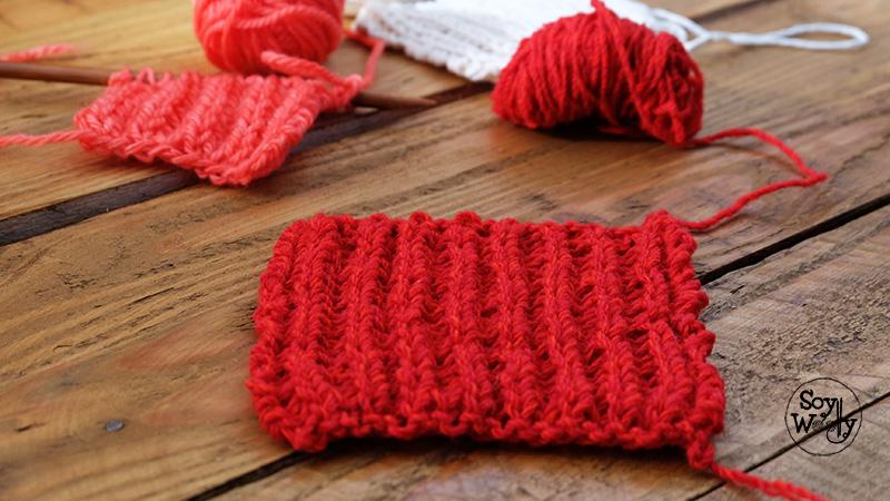 Punto facil reversible doble faz bufanda-Soy Woolly