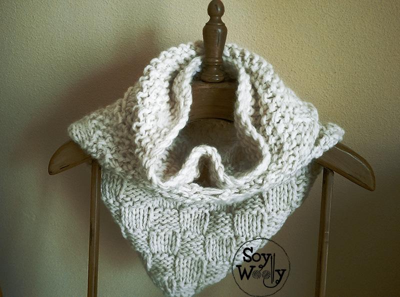 Tutorial para tejer capucha y cuello de punto-Soy Woolly