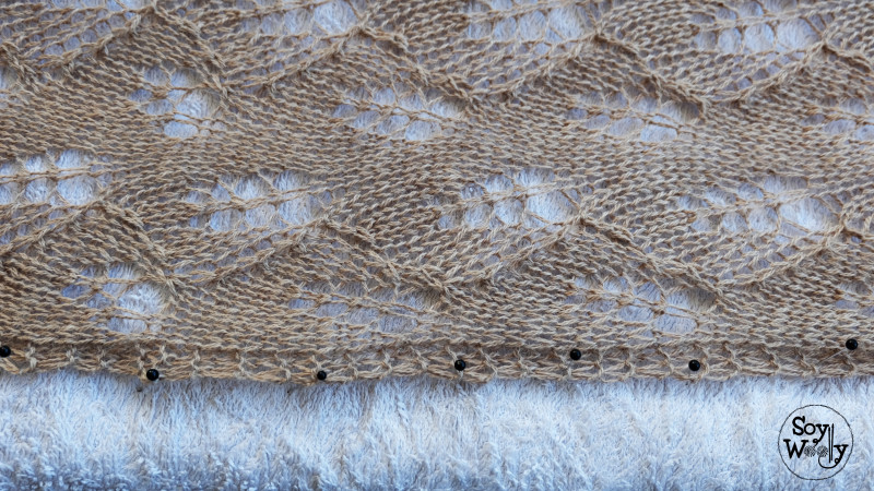 Como bloquear el tejido para que no se enrolle-Soy Woolly