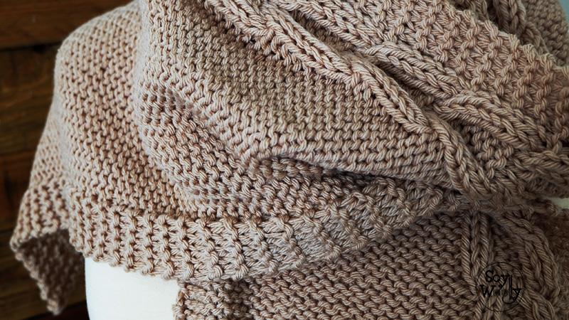 Como hacer bufanda con capucha tejida de punto tutorial-Soy Woolly