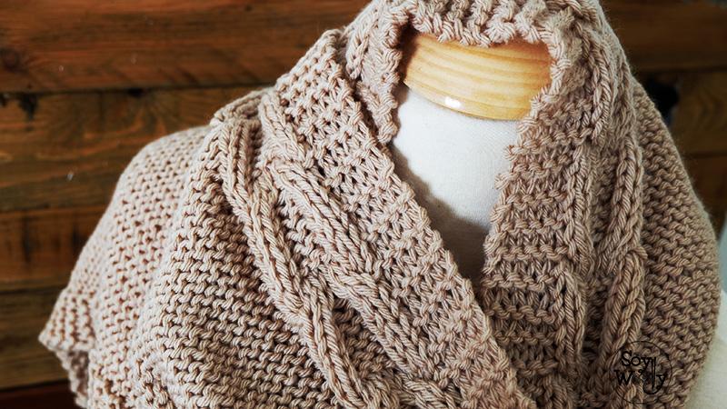 Como hacer una Bufanda con Capucha de punto paso a paso-Soy Woolly