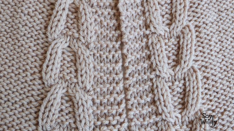 Como tejer trenzas cables ochos dos agujas palillos palitos-Soy Woolly