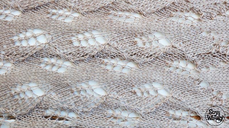 Cómo hacer una Mantilla-Estola-Chal rectangular de Encaje | Soy Woolly