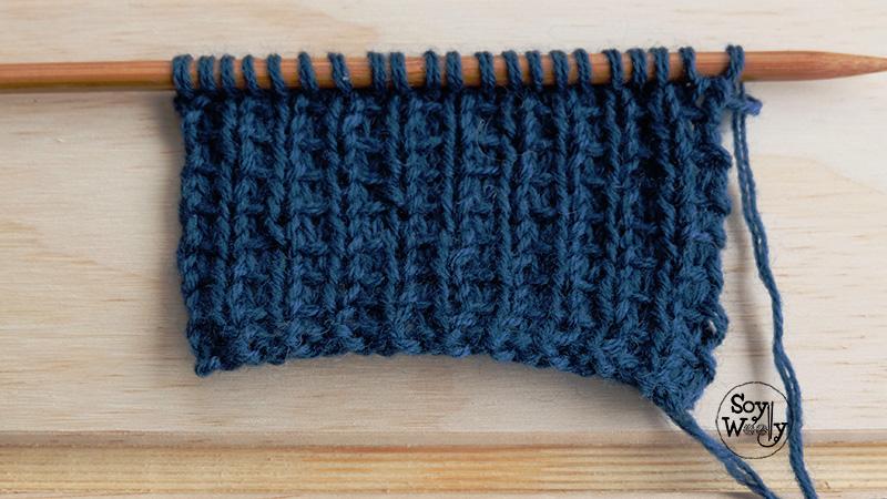 C mo tejer el punto telar paso a paso dos agujas soy - Puntos de agujas de lana ...