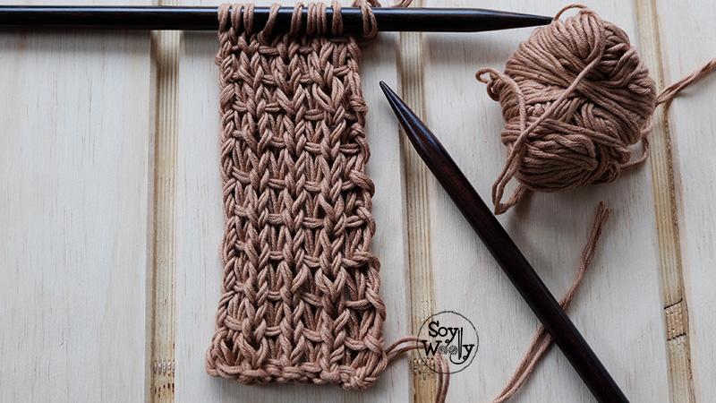 Puntos diferentes en dos agujas palitos calceta tricot-Soy Woolly