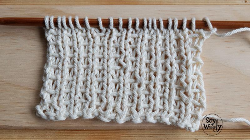 Puntos nuevos en dos agujas palillos palitos tricot-Soy Woolly