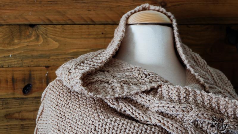 Tejer capucha con bufanda de punto paso a paso-Soy Woolly