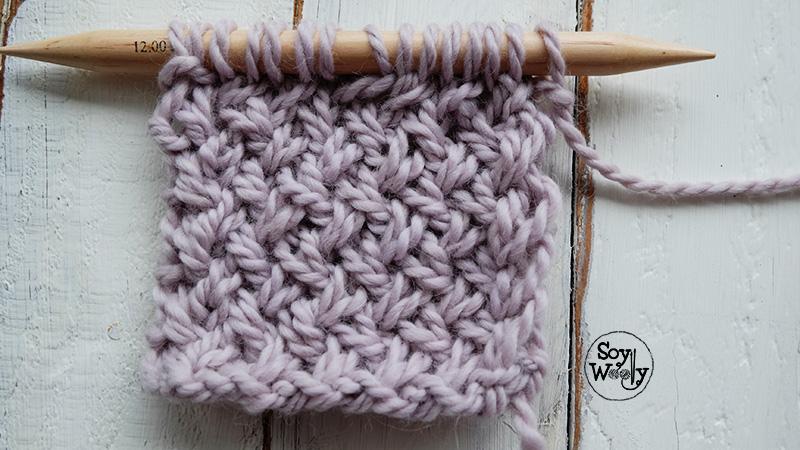 Tricot: Punto de Cesta-Soy Woolly