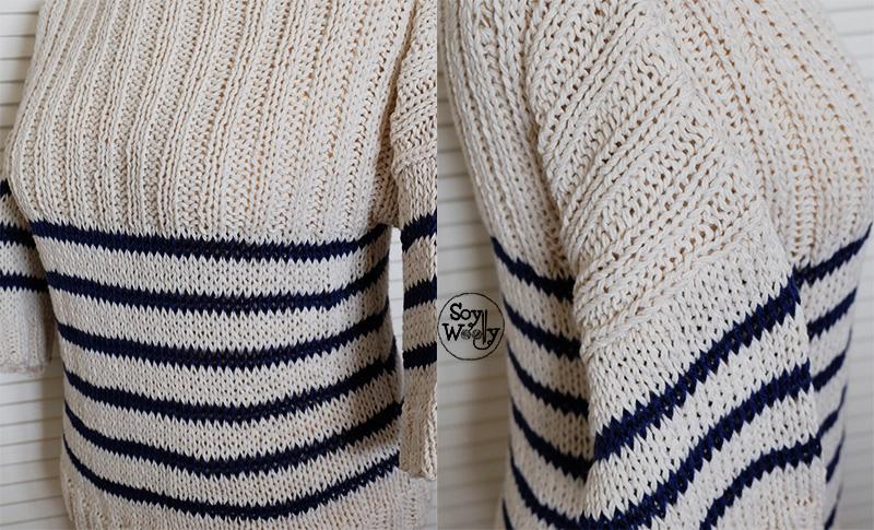 Cómo tejer un Jersey/Suéter básico de punto con mangas | Soy Woolly