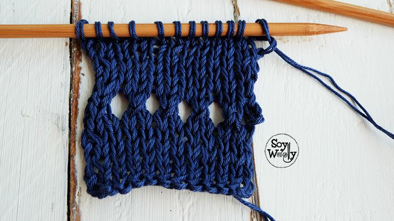 Como tejer bordes en dos agujas palillos palitos-Soy Woolly