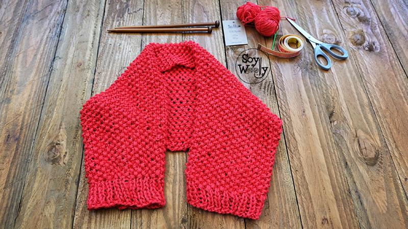 Hacer bolero de punto principiantes dos agujas tricot-Soy Woolly