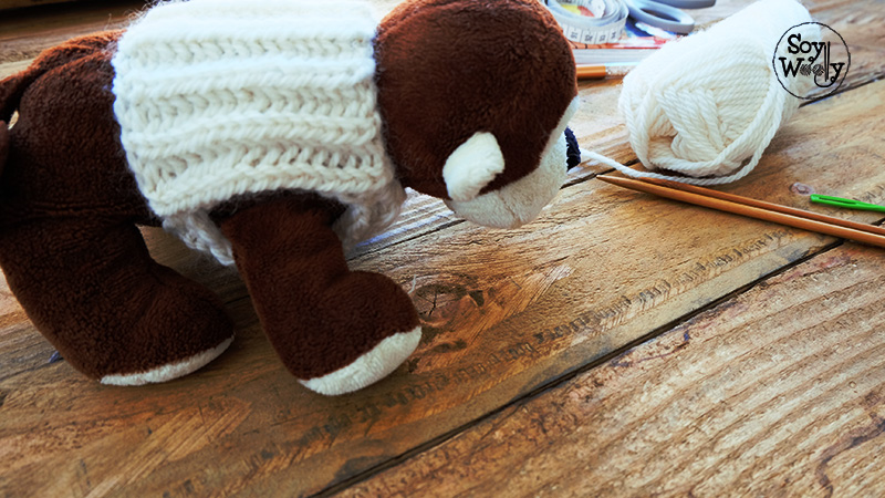 Chaleco para perros gatos tejido en dos agujas palitos tricot-Soy Woolly