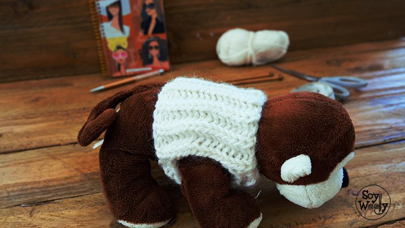 La forma m s f cil de tejer un jersey para tu mascota - Como hacer un jersey de punto ...
