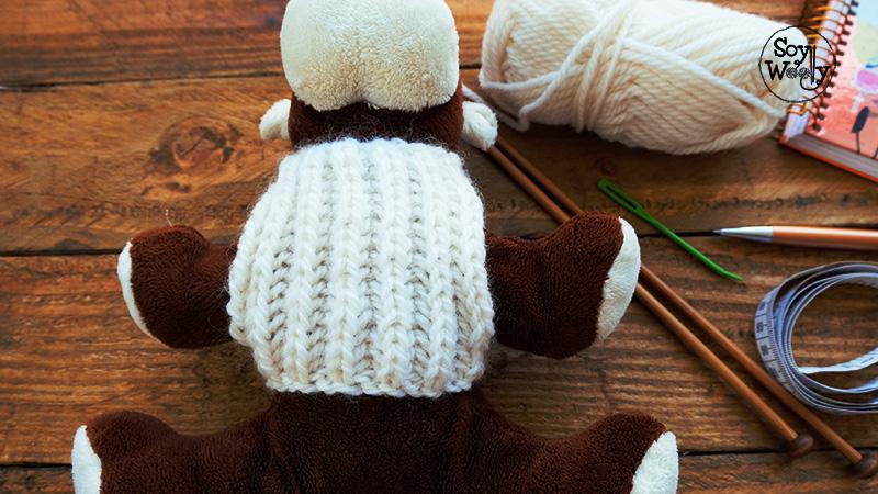 Como tejer un jersey saco sueter en dos agujas para perros gatos-Soy Woolly