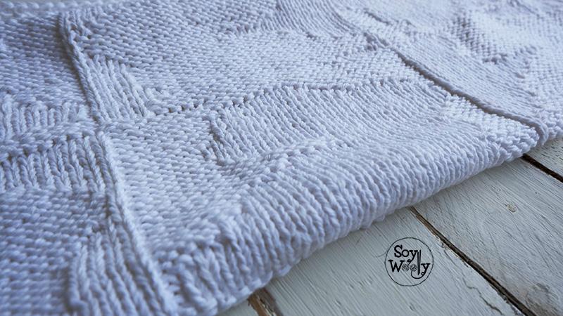 Como tejer una manta o colcha moderna para bebe en dos agujas o palillos-Soy Woolly