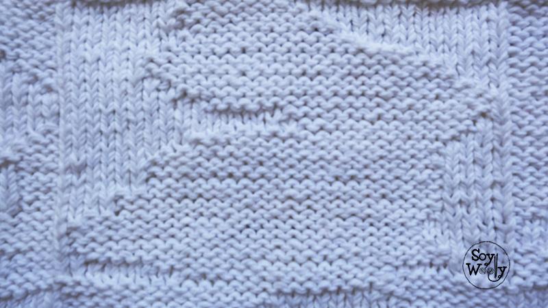 Manta cobija de beb reversible tejida en dos agujas soy - Puntos de dos colores a dos agujas ...