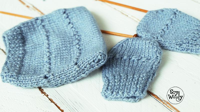Tejer conjunto para regalo baby shower facil dos agujas-Soy Woolly