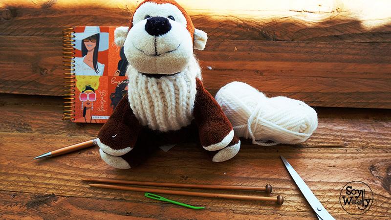 Tutorial tejer un sueter saco jersey facil para mascotas en dos agujas-Soy Woolly