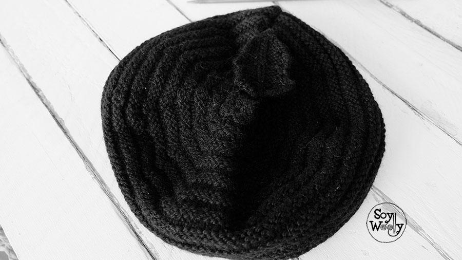 Boina facil tejida en dos agujas-Soy Woolly