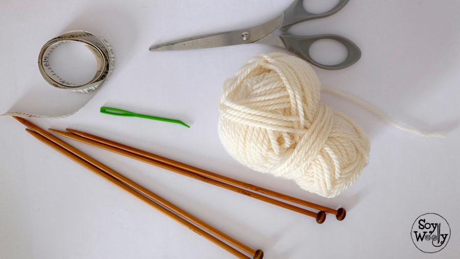 Boina fácil tejida en dos agujas rectas (no circulares) | Soy Woolly