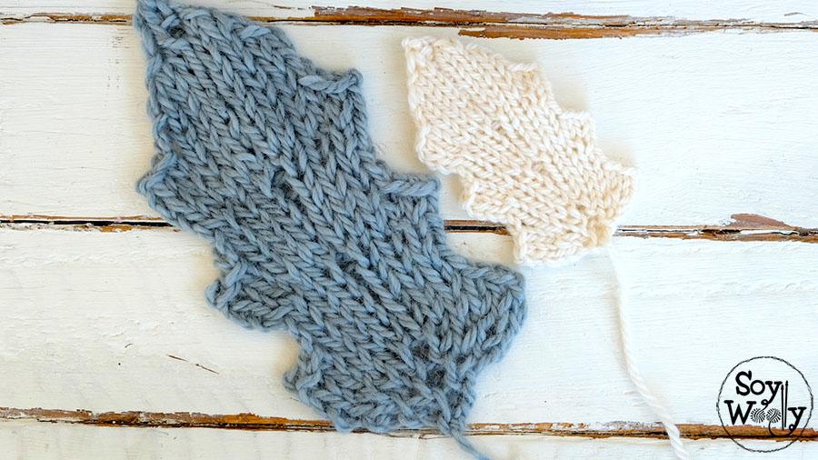 Hacer hojas tejidas de punto - Soy Woolly