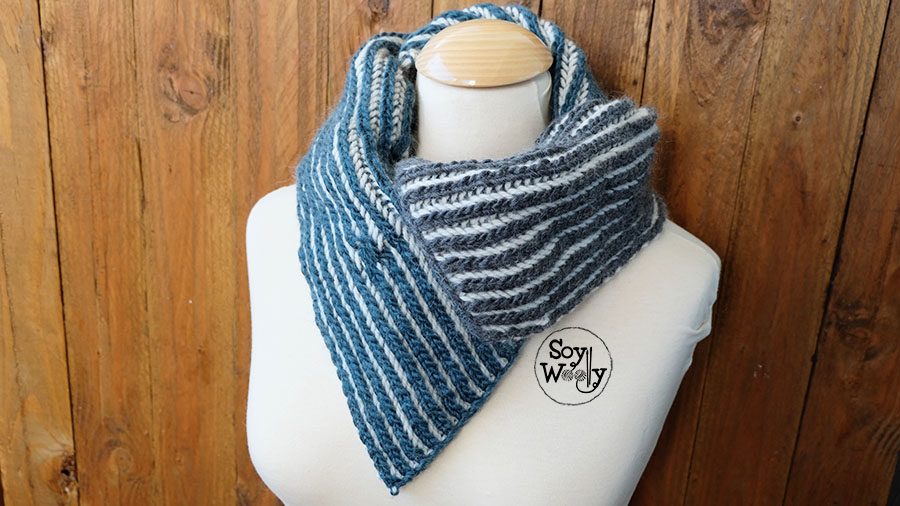 Cuello reversible dos colores-Soy Woolly