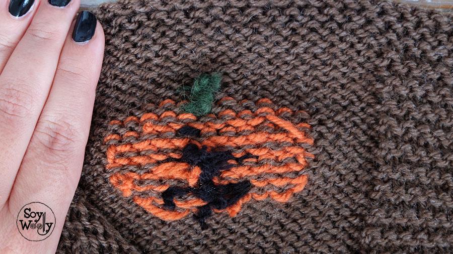 Falso jacquard bordado en punto jersey-Soy Woolly