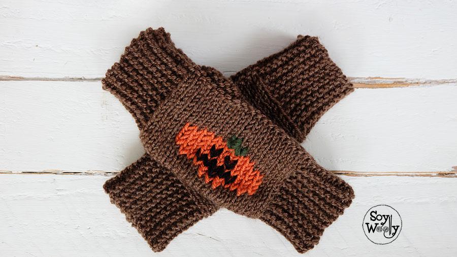 Mitones tejidos en dos agujas-Soy Woolly