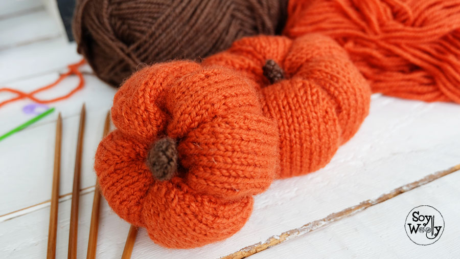 Tutorial tejer calabaza halloween-Soy Woolly