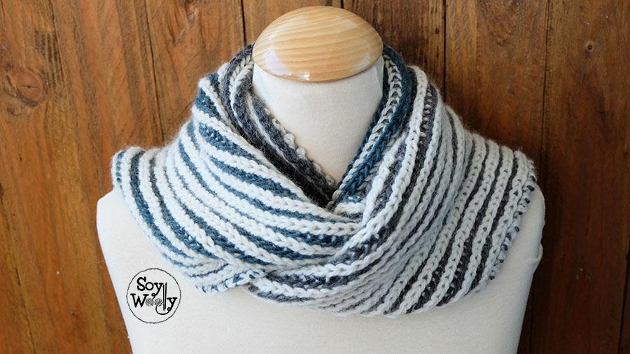 Tutorial tejer cuello bufanda unisex-Soy Woolly