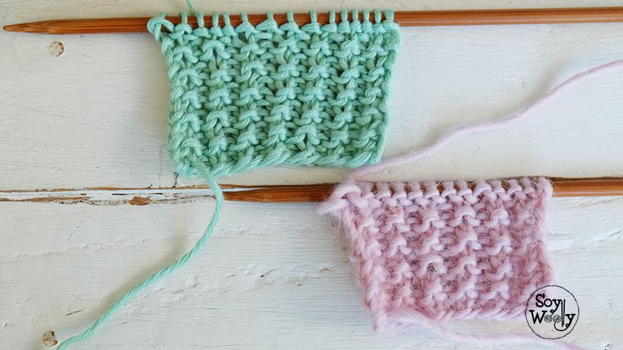 Puntos para bufandas tejidas-Soy Woolly