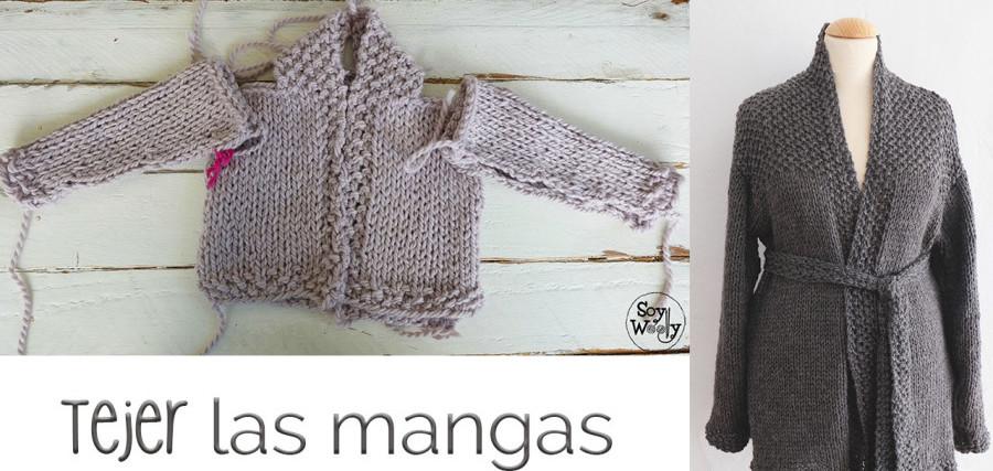 Cómo tejer las mangas de una chaqueta bebé-adulto | Soy Woolly