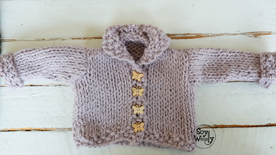 Como coser saco de bebe tejido dos agujas-Soy Woolly