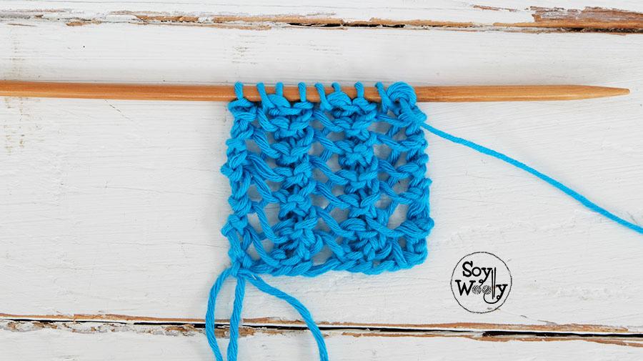 Como tejer puntos faciles con agujeros -Soy Woolly