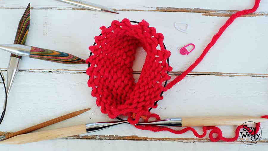 Punto Liso Jersey tejido con agujas circulares-Soy Woolly