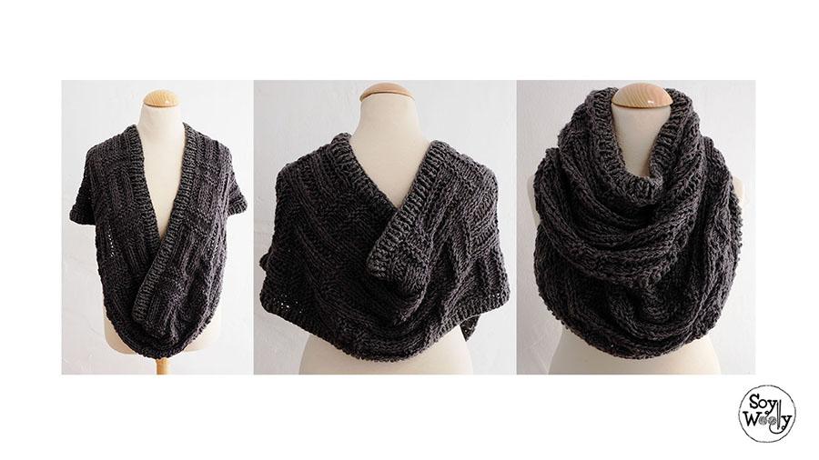Tutorial tejer Katniss cowl-Soy Woolly