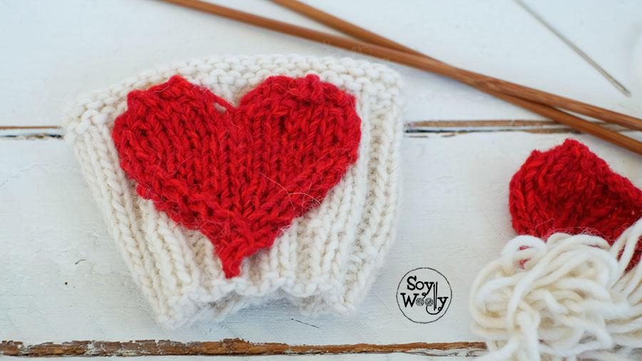 Como tejer un corazon en dos agujas-Soy Woolly