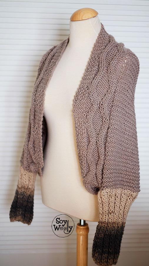 Sueter tejido con trenzas facil-Soy Woolly