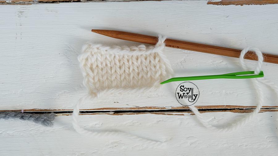Rematar los puntos con aguja lanera igual al montaje-Soy Woolly