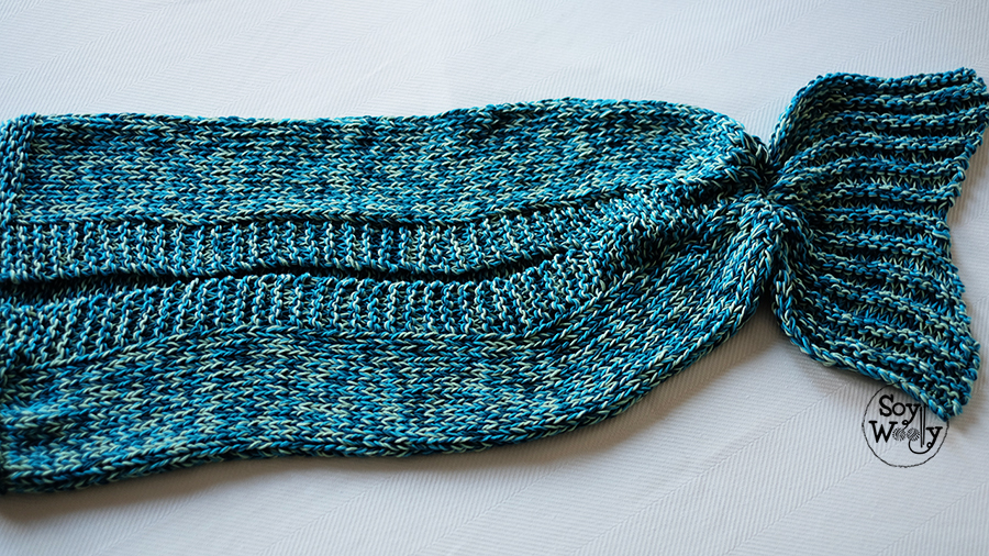 cola de sirena tejida tricot calceta punto