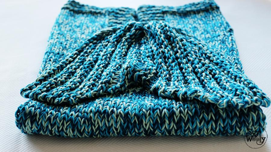 Cómo tejer una manta con cola de sirena en dos agujas | Soy Woolly