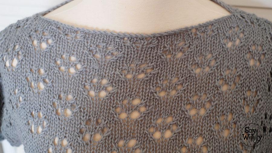 Jersey facil calado tejido en dos agujas-Soy Woolly