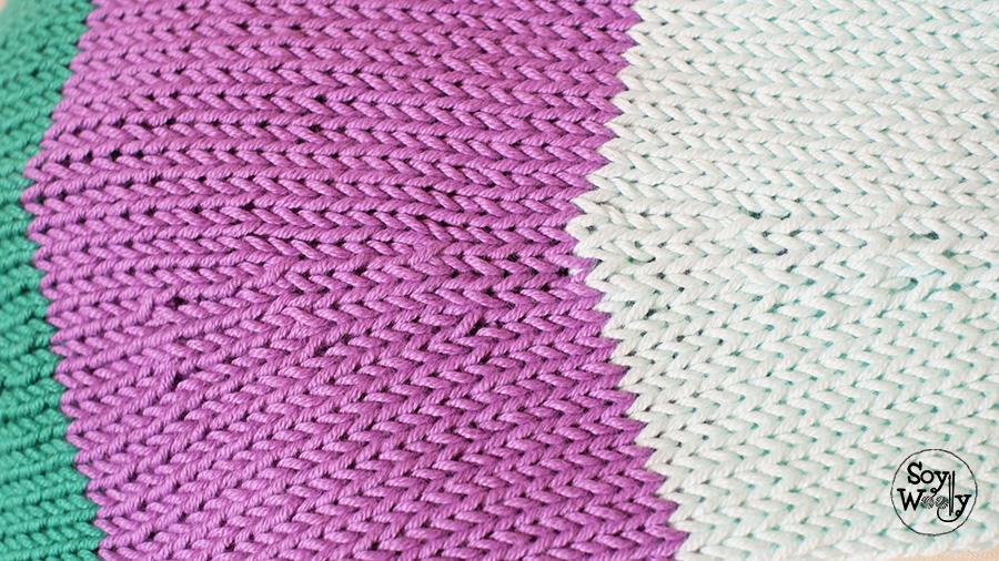 Disminuciones tejiendo en redondo agujas circulares tricot-Soy Woolly