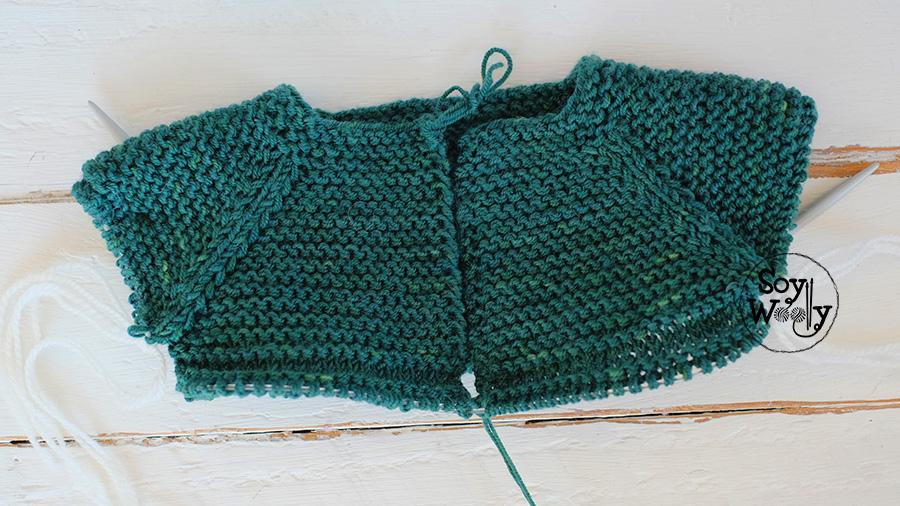 Tutorial saco de bebe tejido dos agujas-Soy Woolly