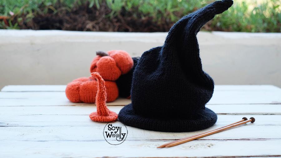 Como tejer gorro de bruja o mago dos agujas-Soy Woolly