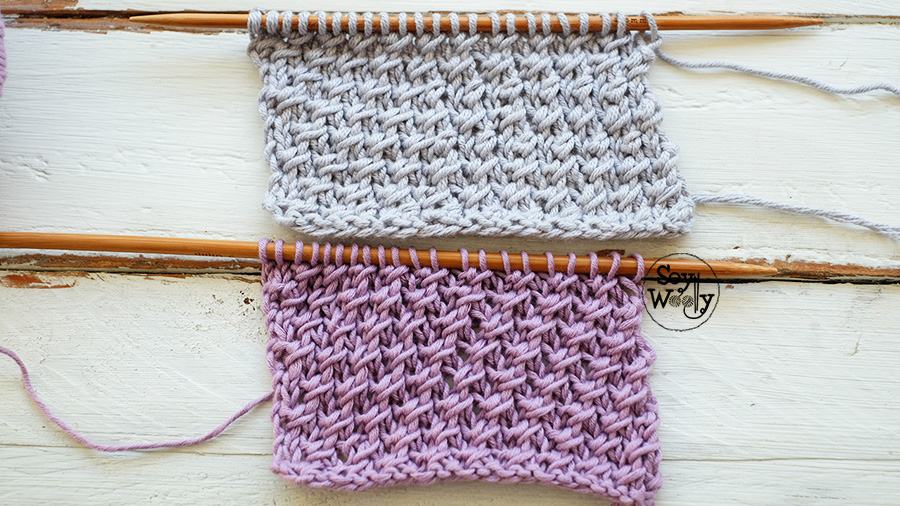 Como tejer Punto Cruzado facil-Soy Woolly