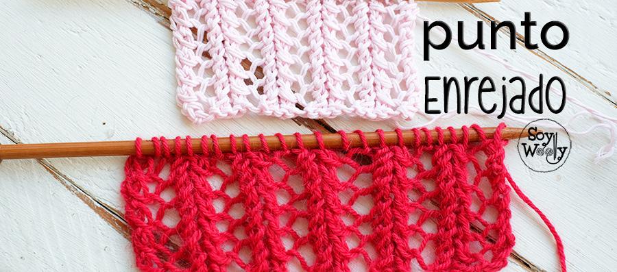 Cómo tejer el Punto Enrejado: encaje en dos agujas | Soy Woolly