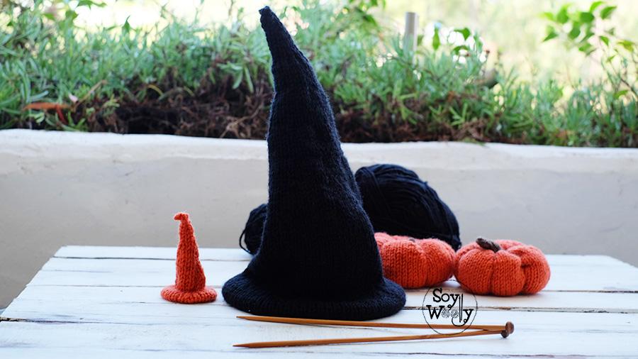 Tutorial tejidos para Halloween dos agujas-Soy Woolly