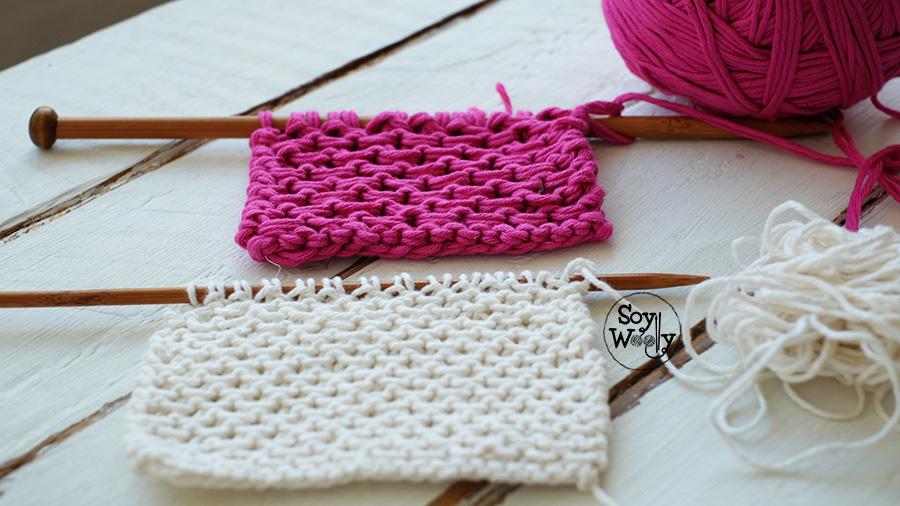 Punto con textura para tejer bufandas-Soy Woolly