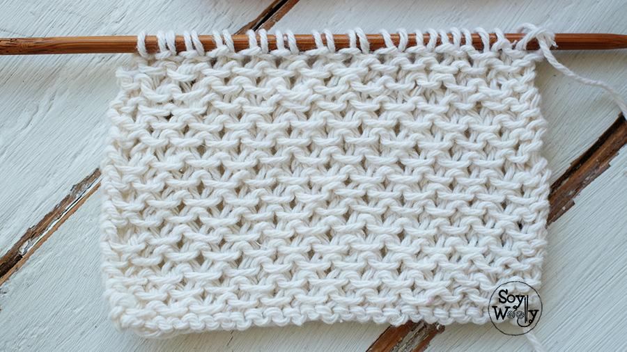 Punto fácil con textura para bufandas y cuellos dos agujas | Soy Woolly